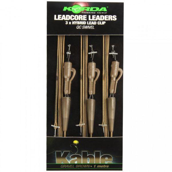 Korda Leadcore Leaders Hybrid Lead Clip QC Swivel