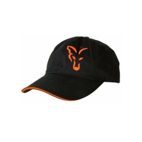Fox Black Orange Baseball cap