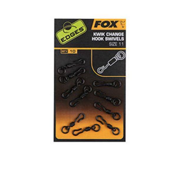 Fox Kwik Change Mini Hook Swivels Size 11