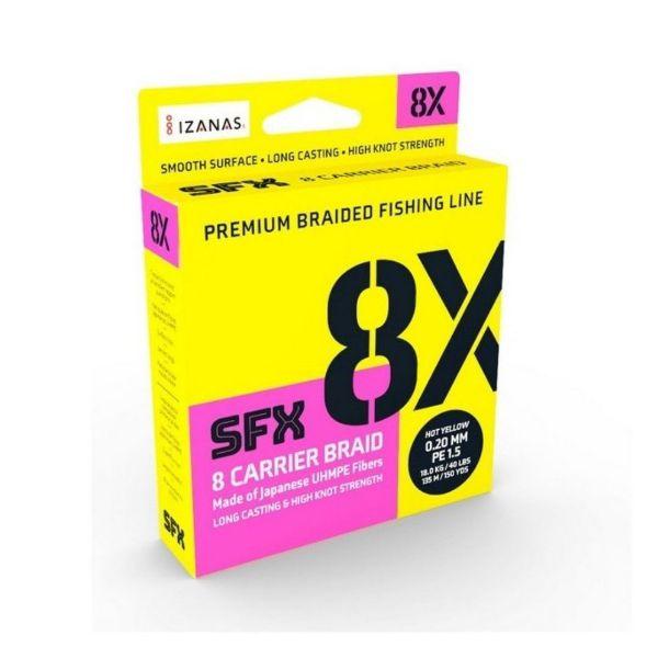 Sufix SFX 8x Hot Yellow 135m