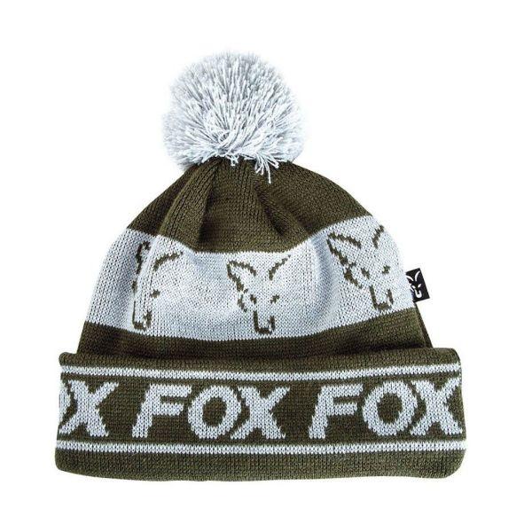 Fox Green Silver Lined Bobble